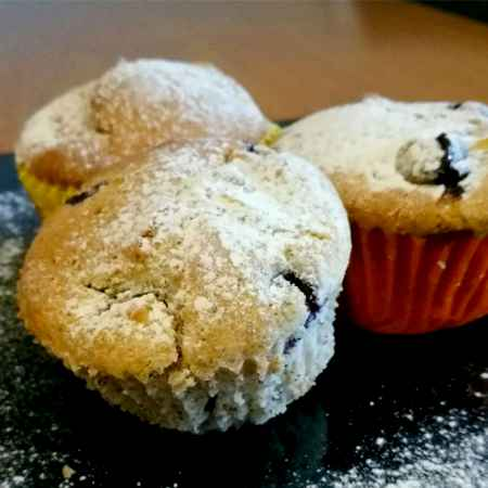 Muffin mele e mirtilli