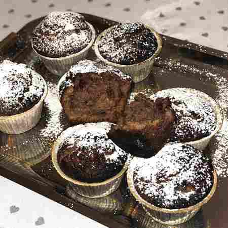 Muffin Nutella e riso soffiato