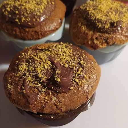 Muffin pistacchio e cioccolato senza uova