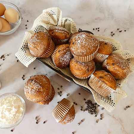 Muffin ricotta e gocce di cioccolato