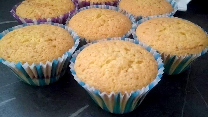 Muffin soffici alla panna