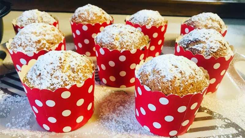 Muffin soffici al cocco
