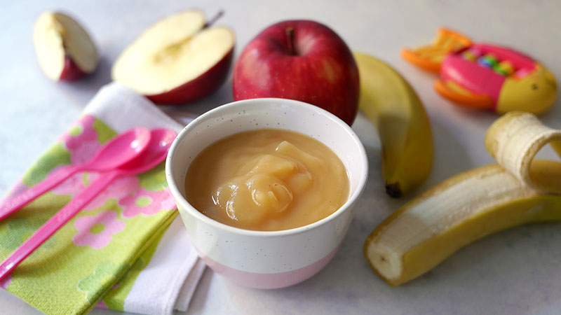 Omogeneizzato di mela e banana