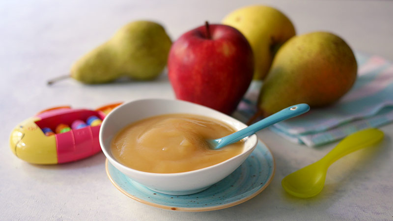 Omogeneizzato di mela e pera