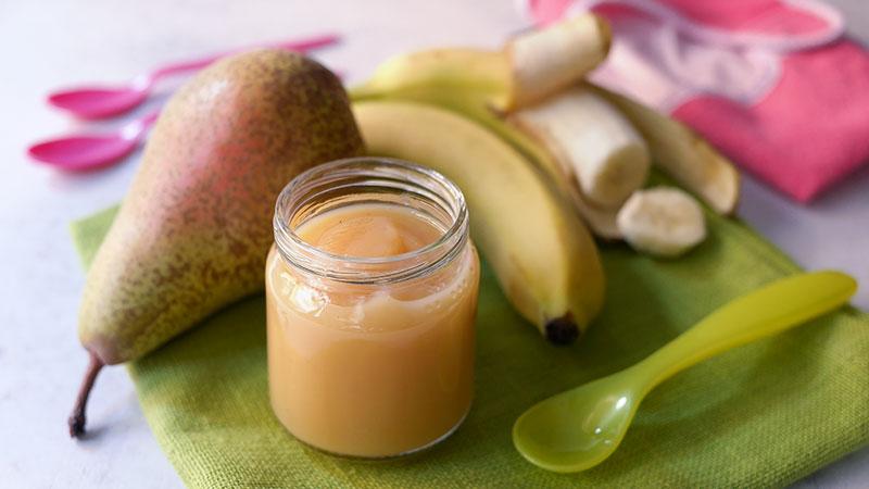 Omogeneizzato pera e banana