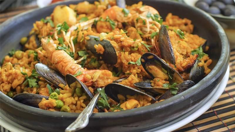 Paella di pesce (de marisco)