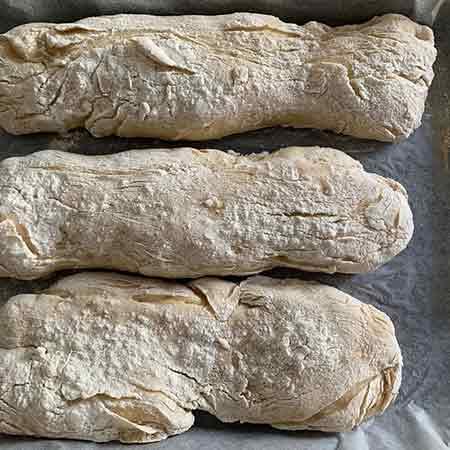 Pane a ciabatta con lievito madre