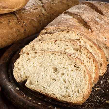 Pane bianco senza lievito