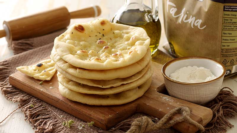 Pane pita senza lievito