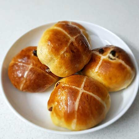 Panini hot cross buns