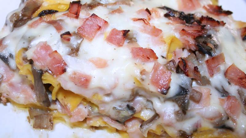 Pappardelle salsiccia e funghi