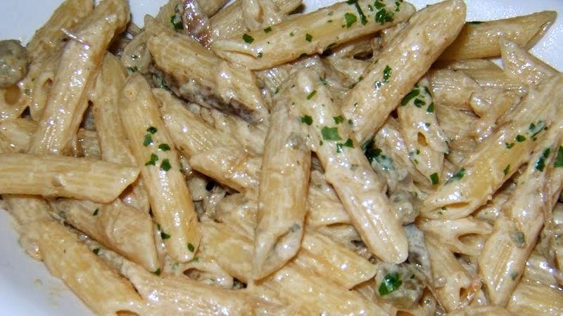 Pasta carciofi e stracchino