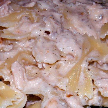 Pasta risottata panna e salmone