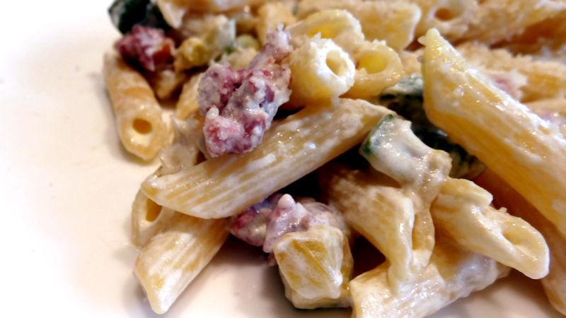Pasta risottata zucchine e salsiccia