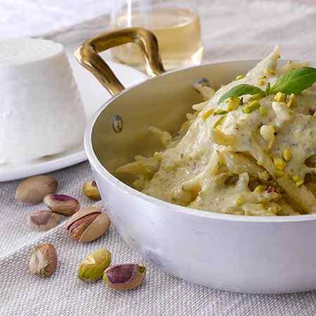 Pesto di pistacchi e ricotta