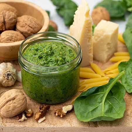 Pesto di spinaci leggero