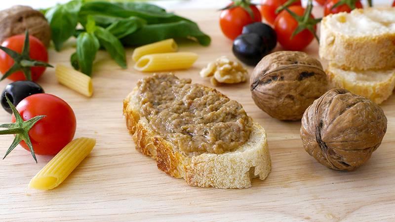 Pesto olive e noci
