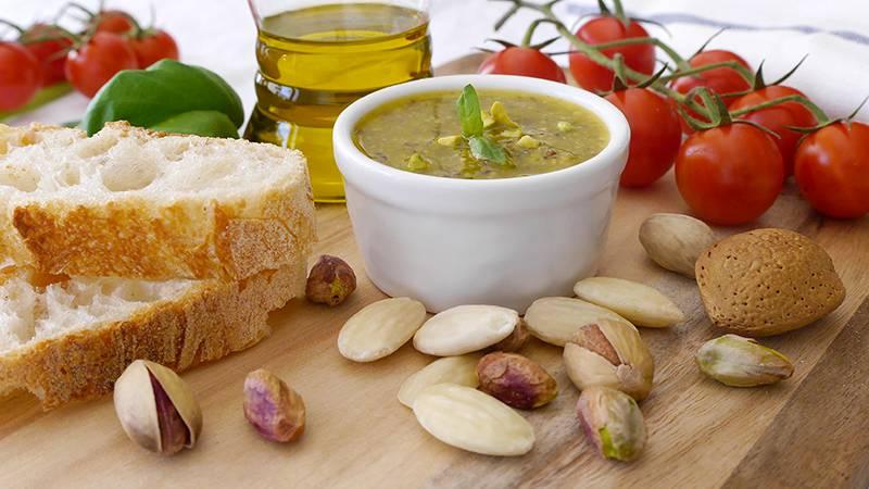 Pesto pistacchi e mandorle