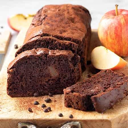 Plumcake al cacao mele e gocce di cioccolato