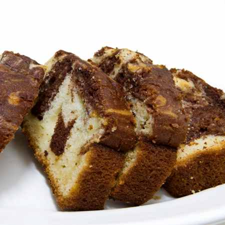 Plumcake bicolore caffè e cioccolato