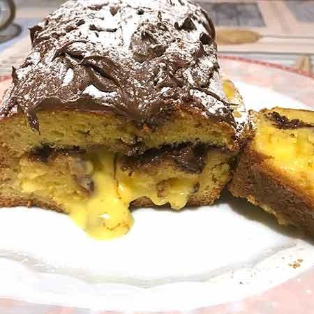 Plumcake farcito crema e Nutella