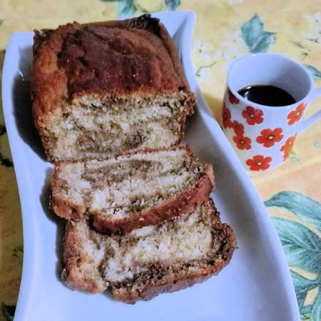 Plumcake marmorizzato al caffè