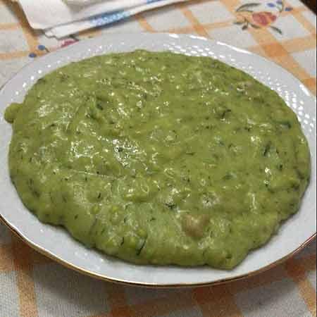 Polenta siciliana con farina di piselli e ceci