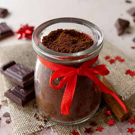 Preparato per cioccolata calda senza latte