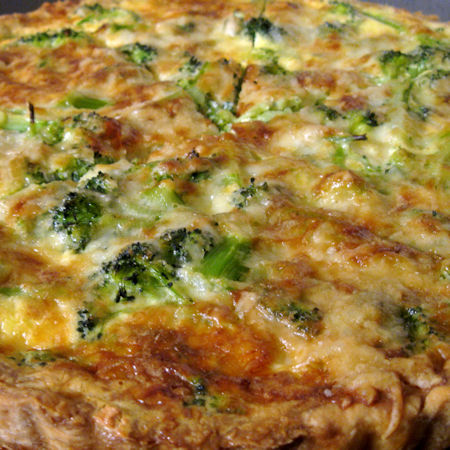 Quiche di cavoli e broccoli