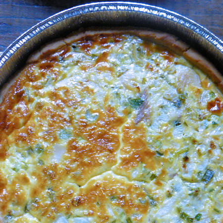 Quiche patate e porri