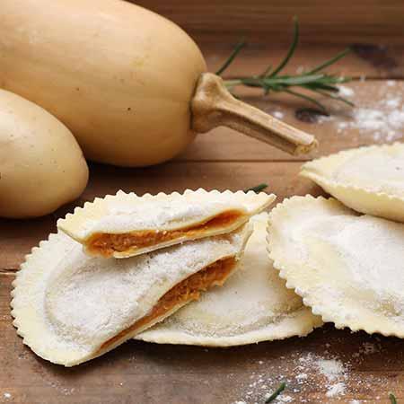 Ravioli zucca patate e cipolla