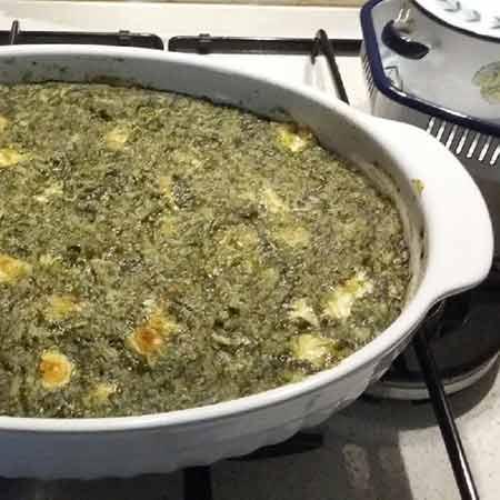 Risotto spinaci prosciutto e galbanino
