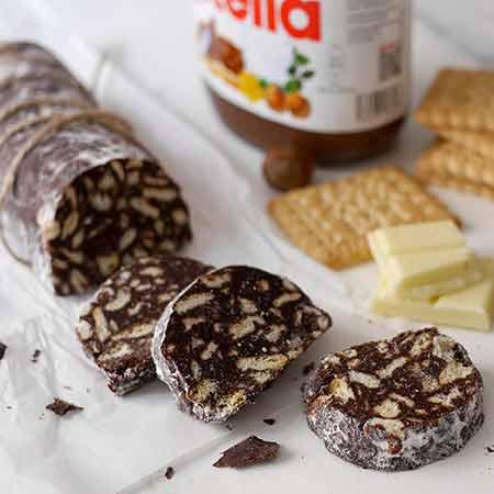 Salame al cioccolato con Nutella