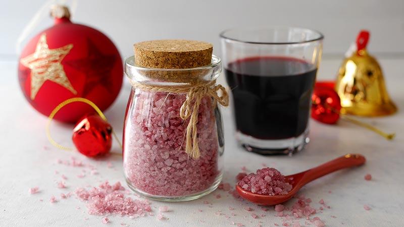 Sale aromatizzato al vino rosso