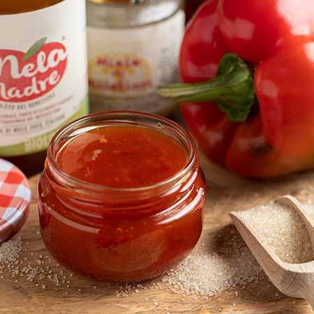 Salsa agrodolce con peperoni