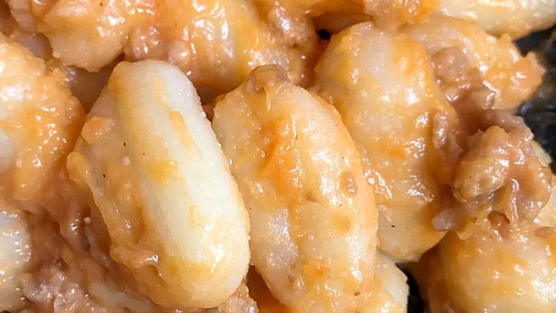 Salsa di zucca e salsiccia