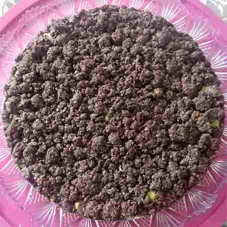 Sbriciolata alla crema con cacao e cocco