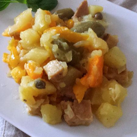 Seitan peperoni e patate
