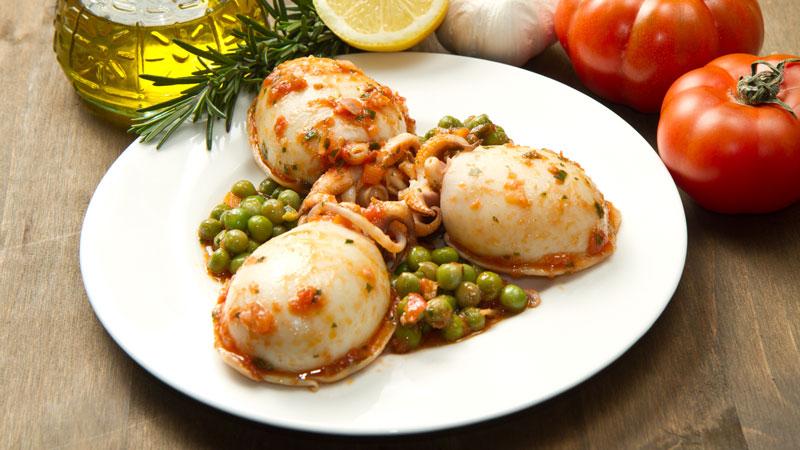 Seppie con piselli ricette bimby for Cucinare seppie