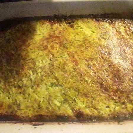 Sformato di uova e zucchine al forno