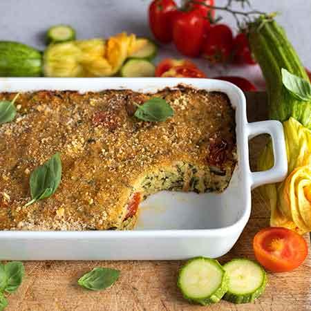 Sformato di zucchine e pomodorini