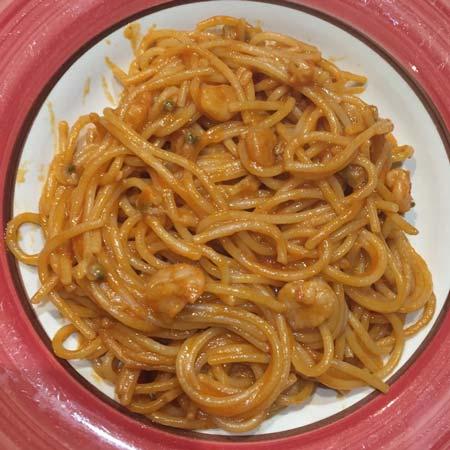 Spaghetti risottati vongole e peperoncino