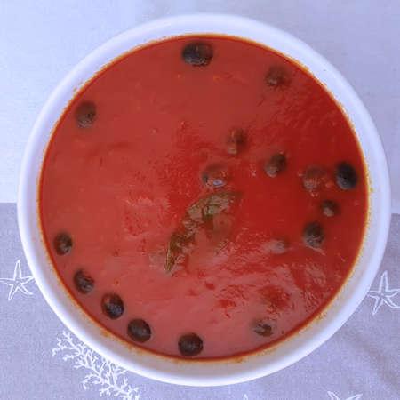 Sugo speck e olive