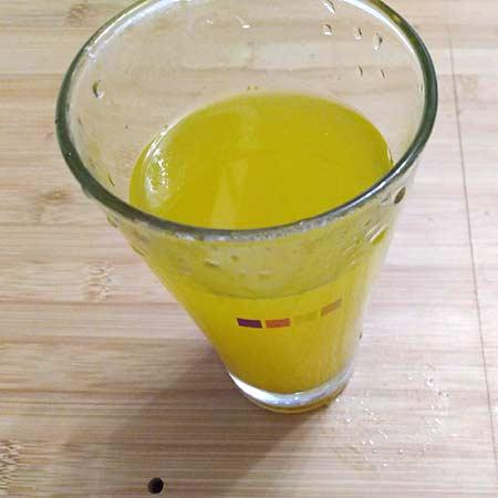 Tisana zenzero, curcuma e arancia