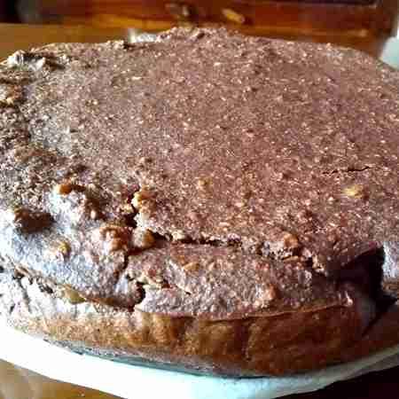 Torta al cacao e pane raffermo