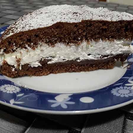 Torta al cacao panna e nutella