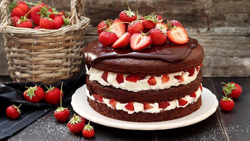 Ricetta Torta Al Cioccolato E Fragole.Torta Al Cioccolato Panna E Fragole Ricette Bimby