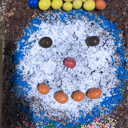 Torta brownies di Carnevale