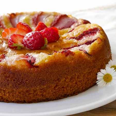 Torta fragole e mandorle
