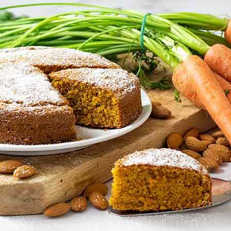 Torta carote e mandorle